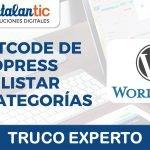 ¿Como listar subcategorías en wordpress?